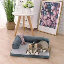 Pet Dog Cat Pad Mat Memory Foam Lined Sofa Cushion Travel Bed Washable XL/XXL