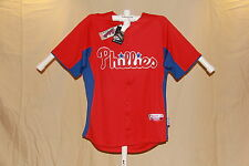 "PHILADELPHIA PHILLIES Authentic Majestic ""Cool Base"" JERSEY Large NWT $80 retail"