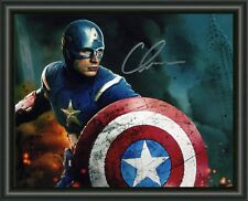 CAPTAIN AMERICA - CHRIS EVANS  A4 SIGNED AUTOGRAPHED PHOTO POSTER  FREE POST