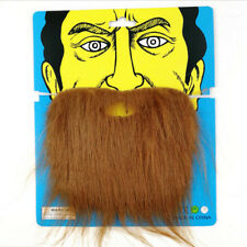 Halloween Fancy Dress Fake Beard Moustache Costume Facial Hair Party Cosplay~