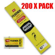 200 X FEATHER Hi-Stainless Blades   DOUBLE EDGE Razor Blade   Premium Safety DE
