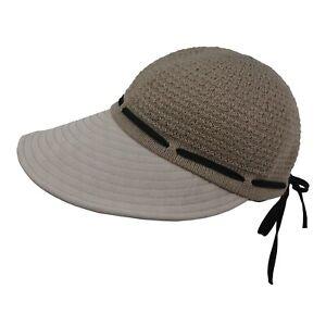 Round Cap Wide Brim Ribbon Golf Beach Spring Summer Sun Hat Adjustable Women