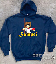 Unisex Sweatshirt Sampei the Fisherman Fishing Mania Cartoons Ages '80 Vintage