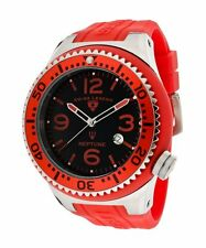Swiss Legend Men's Watch Neptune Black Dial Red Silicone 21818S-C-GB (52mm Case)
