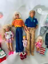 Barbie Ken with 3 Daughters Daughter Baby Family clothing and accessories Lot