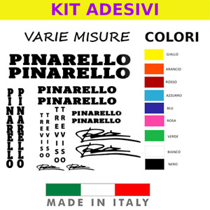 KIT ADESIVI PINARELLO TREVISO VINTAGE STICKERS VINILE PVC RESISTENTE VARI COLORI