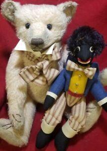 """Lynn Gatto """"Teddy & Me Too"""" OOAK artist teddy bear w/ Golli 16"""" Limerick Bear"""