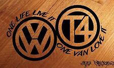 VOLKSWAGEN VW T4 Camper/una vita un Furgone/Van/Paraurti Adesivo Vinile Decalcomania