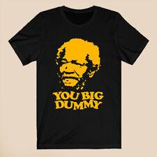 Sanford and Son Redd Foxx You Big Dummy Slogan Men's Black T-Shirt Size S-3XL