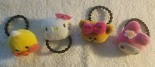 Set of 4 Hello Kitty Hair Ties Accessories Ponytail Holders