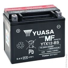 Batería Moto YTX12-BS Yuasa 12V 10Ah (50mm*87mm*130mm)