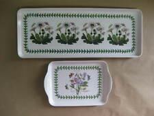 2 Portmeirion Botanic Garden Melamine Trays ~ Sweet Pea & Daisy