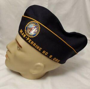 Vintage USA Disabled American Veterans cap, navy/gold braid, Past Commander Dean