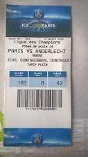 TICKET : PSG PARIS SAINT GERMAIN - RSC ANDERLECHT CHAMPIONS LEAGUE 31-10-2017
