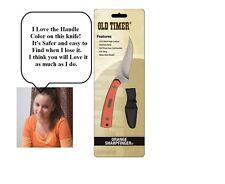 Schrade Old Timer Sharpfinger Hunting knife skinner Blaze Free Shipping USA