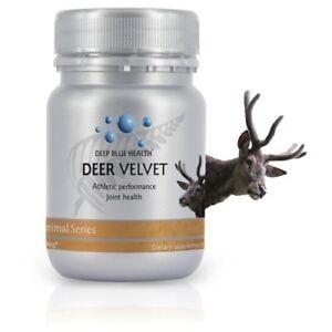 New Zealand Pure Deer Antler Velvet Extract Powder IGF-1 - 500mg x 30 Capsules