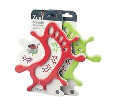 ZEAL impronte dei piedi a forma di silicone Treppiede, Verde/Rosso