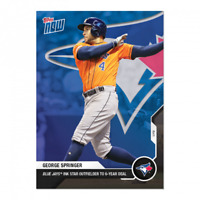 2020 2021 MLB Topps Now George Springer #OS-41 Signs with Toronto Blue Jays