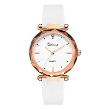 Womens Casual Watch Ladies Stainless Steel Case Silica Analog Wrist Watches Hoc