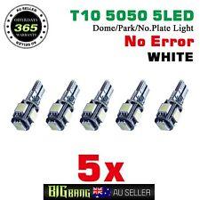 T10 5LED Canbus Bulb White Number Plate Light For Holden Commodore VF&HSV Gen-F