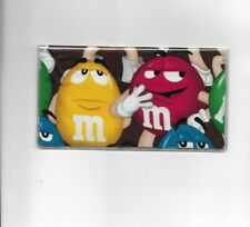 M&M CANDY CHECKBOOK COVER REGISTERED FABRIC RED AND YELLOW   # 1