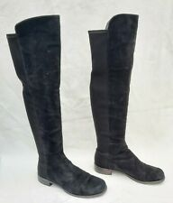 STUART WEITZMAN RUSSELL & BROMLEY BLACK SUEDE OVER THE KNEE BOOTS US8 /UK6