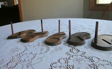 Lot of 5 Vintage Wood Cup and Saucer Display Stand