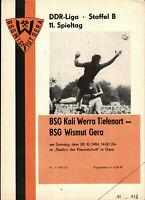 DDR-Liga 84/85 BSG Wismut Gera - Kali Werra Tiefenort, 28.10.1984, Uwe Neuber
