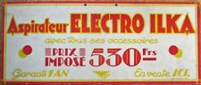 Vacuum Cleaner 1930s Art Deco French Advertising Sign: 'Aspirateur Electro Ilka'
