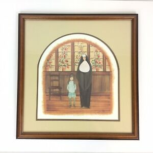 P Buckley Moss Visit to the Principal Art Print Signed Numbered Matted Framed