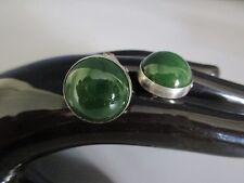 Midcentury Manschettenknöpfe-835er Silber-Jade