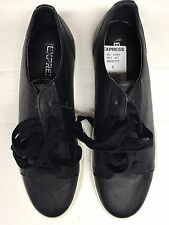 Express Men's Black Faux Leather Lace Up Fashion Sneakers Sz 9 NWOB  MSRP $79.99