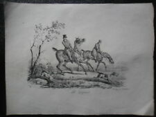 Carle VERNET Lithographie English Hunting Horses  1820,