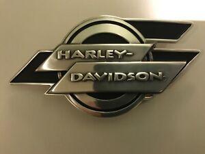 Harley-Davidson rare men's deco belt buckle.#97664-07V.Silver plaited w/ black.