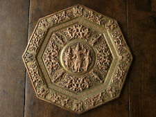 Anglo Indian Brass Copper Tray Panel Hindu Rama Antique