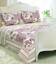 Vintage Country Cottage Style Floral Patchwork Quilted Bedspread 230x240cm and 2 Washington
