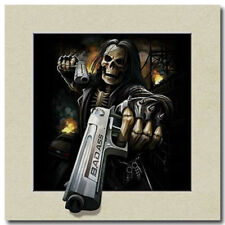 death holding gun 5D Lenticular Holographic Stereoscopic Picture Wall Art