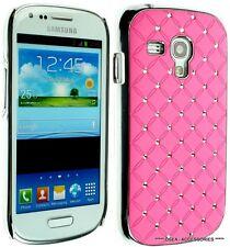 SAMSUNG i8190 GALAXY S3 MINI Diamond Case Chrome Cover S111 + Screen Protector