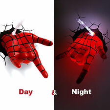 Marvel Avengers Spider Man Hand 3D Deco Wall LED Night Light Art FX Room Decor