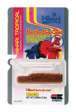HIKARI BETTA BIOGOLD .088 OZ /2.5 GRAM BIO GOLD FOOD. FREE SHIPPING TO THE USA