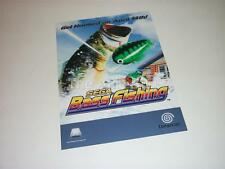 Original Advertising Material for Sega Dreamcast game 'Sega Bass Fishing'