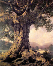 An Ancient Tree 22x30 Hand Numbered Ltd. Edition Maxfield Parrish Art Deco Print