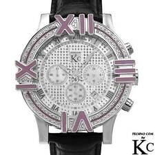 TECHNO COM by KC Mens Watch w/ Genuine Diamonds & Mother of Pearl, .25ctw