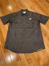 Domestic Workwear For Goose Island Beer Co. Short Sleeve Work Shirt Gray, Medium