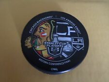2014 CHICAGO BLACKHAWKS VS LOS ANGELES KINGS STANLEY CUP PLAYOFFS PUCK RARE!