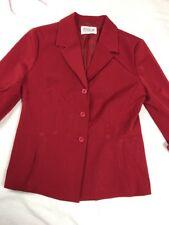 Women's Red Jessica Blazer Size 12