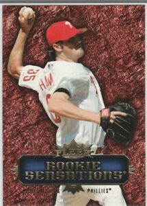COLE HAMELS ROOKIE Fleer Sensations Baseball Card PHILADELPHIA PHILLIES INSERT
