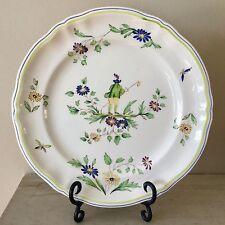 """Classic LONGCHAMP 12.5"""" chop plate/platter MOUSTIERS French porcelain"""
