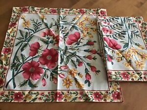 "APRIL CORNELL SET OF 4 NAPKINS ~ FLORAL  16""x 16"" NWT"