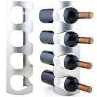 Wall Mounted Wine Rack Stainless Steel 3/4 Bottle Holder Towel Storage BarStandE